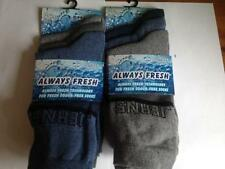 ** 12 x Para hombre siempre fresco varios Color Liso Calcetines de tobillo 6-11 NUEVO ** Jeans