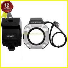 Minolta flash anulare macro 1200AF con control Unit per fotocamere. Closeup.