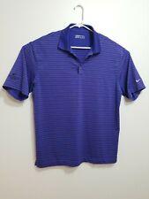 Nike Men's Golf Tour Performance Dri-Fit L Large Shirt Polo 56323 Purple Striped