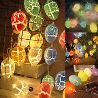 1.5M 10 LED Lights Easter Rabbit Egg String Bunny Festive Lamp Ornament Battery