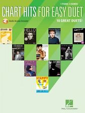 Chart Hits for Easy Duet Sheet Music 1 Piano 4 Hands Piano Duet Book a 000159796