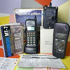 Mitsubishi MT-7 Vintage Mobile Phone Boxed In Working Order! Retro Collector