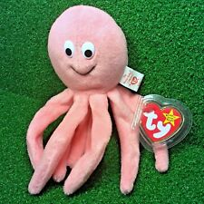 Rare TY Beanie Baby INKY The Pink Octopus 1994 RETIRED PVC Pellets & Errors MWMT