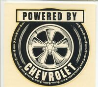vtg powered by Chevrolet water decal hot rod drag race tire chevy speed shop
