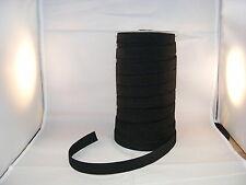 Elastic Black Ribbed Non Roll 20mm x 3 metres