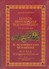 """GSPKW """"LEXIKON HISTORISCHES BLECHSPIELZEUG - AUTOS + MOTORRÄDER"""" NEU/NEW / NEUF"""