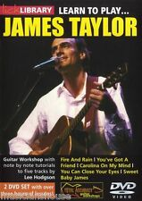 Learn To Play James Taylor Guitar DVD + JAMTRAX CD NEW LESSON SONGS LICK LIBRARY