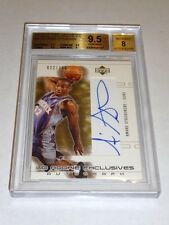 2002 - 03 Rookie Card SP Game Used Autograph Rc AMARE STOUDEMIRE BGS Gem 9.5