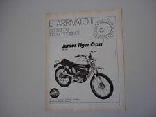 advertising Pubblicità 1972 MOTO GARELLI JUNIOR TIGER CROSS 50