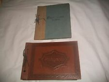 (2)Vintage Classic EMPTY POST CARD ALBUM(SIGNED) & Photo Album W/A Few photo's