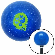 Green Heart Girl Blue Metal Flake Shift Knob amp car accessories street rod