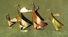 Vintage Modern Sail Boat Wall Sculpture Brass Copper Nautical Curtis Jere Era