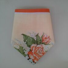 Vintage 1970s Floral Art Cotton 10in - 25 cm Handkerchief