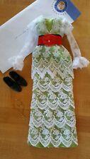 Franklin Mint Titanic Rose Doll Green Tea Dress Ensemble w/Jewelry & Shoes!