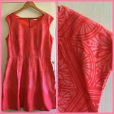 Target VINTAGE STYLE Watermelon Pink COTTON SWING DRESS 16