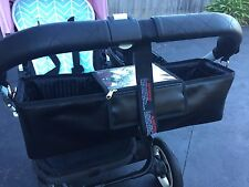 Faux Leather Double Pram & Stroller Bag Caddy Organiser, Nappy Bag suit bugaboo