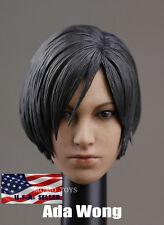 1/6 Ada Wong Head Sculpt For Resident Evil Hot Toys Phicen Female Body IN STOCK