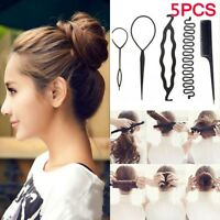Ponytail  Hair Pin Hair Styling  Hair Braid Tool Twist Curler Bun Roller Maker