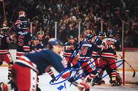 1980 USA Steve Janaszak OLYMPIC GOLD HOCKEY SIGNED 4X6 PHOTO Miracle on Ice