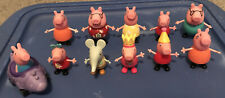Peppa Pig Family and Friends, Lot Of 10 figures & Roll figure