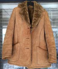 VTG Knight Tailors Leather Jacket - Medium Wool - Marlboro Shearling Western