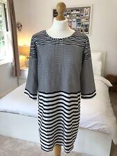 Vero Moda Women's Black & White Stripe Dress Size Medium