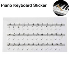 Transparent Decal Musical Instrument 54/61/88 Key Note Piano Keyboard Sticker
