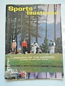 April 1, 1963 SPORTS ILLUSTRATED  Preview of THE MASTERS Augusta National