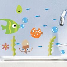 DIY Cartoon Fish Bathroom Decor Wall Sticker Room Decal Art Kids Room DECORATION