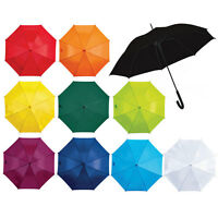 "40"" BLACK AUTOMATIC WINDPROOF UMBRELLA MENS UMBRELLA AUTO 10 VARIOUS COLOURS"