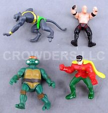 TMNT's Michelangelo Batman's Robin WWE's Kane & Mysterious Panther Man Micro Lot