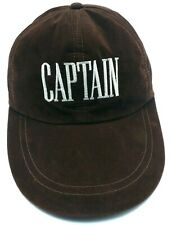 CAPTAIN brown adjustable cap / hat