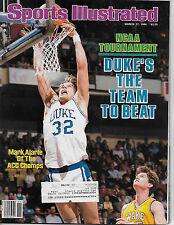 SPORTS ILLUSTRATED FEATURING MARK ALARIE ON THE COVER FROM MARCH 17, 1986