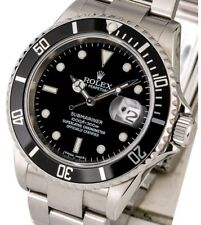 NEW, never worn!! Black Rolex Submariner 16610 with box and papers!!