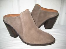 577294d14b8 Aquatalia Libby Brush Oil Suede Leather Mule Shoes Womens Size 9
