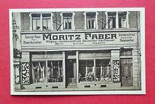 Reklame AK MEISSEN um 1925 Mode Ladengeschäft von MORITZ FABER Dekoration( 38301
