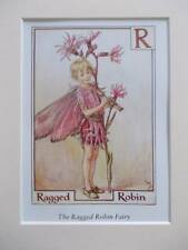R pour Ragged Robin Flower Fairy, Cicely Mary Barker en 10 in (environ 25.40 cm) X 8 In (environ 20.32 cm) Ivoire Mount 8