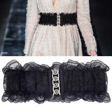 Fashion Lace Belt Wide Elastic Waist Band Wedding Dress Coat Waistband Acces