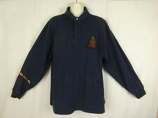 "Polo by Ralph Lauren LS Shirt Blue ""Finest Marine Supplies"" Rugby Crest ~ 2XLT"