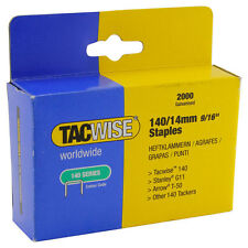 Tacwise STAPLES Galvanised 140/14mm Upholstery Window Flooring others 2000pcs