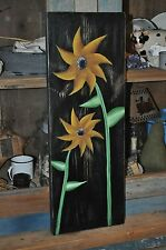 Handpainted By Artist  Wood Sunflower Sign Primitive Rustic Folk Art Decor