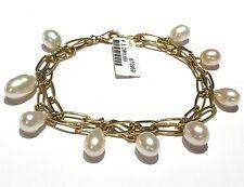 bracciale charms In oro giallo 18 kt e perle coltivate peso gr 19,80