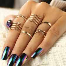 New Fashion Stylist 6pcs Ring Set Simple Beauty Midi Knuckle Top of Finger Rings