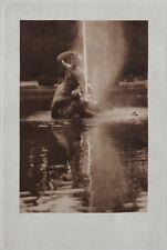 VINT.1918 HANDGRAVÜRE*Park mit Brunnen*J. DAIMER