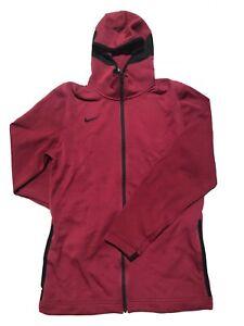 Men's Nike Therma Flex Showtime Basketball Hoodie Tall Burgundy 930561-610