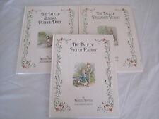 Lot 3~Beatrix Potter HC Books~Peter Rabbit Jemima Duck Benjamin Bunny~LBDLI