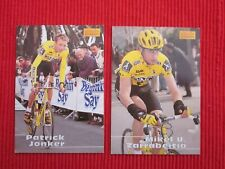 2 CARTES MERLIN 1996 TEAM ONCE JONKER TOUR DE FRANCE CYCLISME NO PANINI