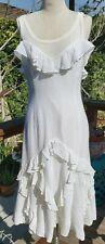 Ralph Lauren black label white ruffle dress