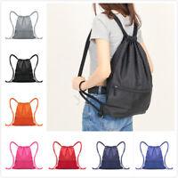 Travel Waterproof Drawstring  Bag Sack Nylon Backpack Swim School Book  U1