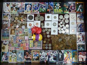 Junk Drawer Lot #1: Morgan Dollar, Antique Silver Coins Sports Cards Estate Sale